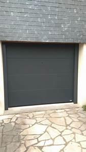 Porte De Garage Gris Anthracite : porte de garage sectionnelle gris anthracite saint brieuc ~ Melissatoandfro.com Idées de Décoration