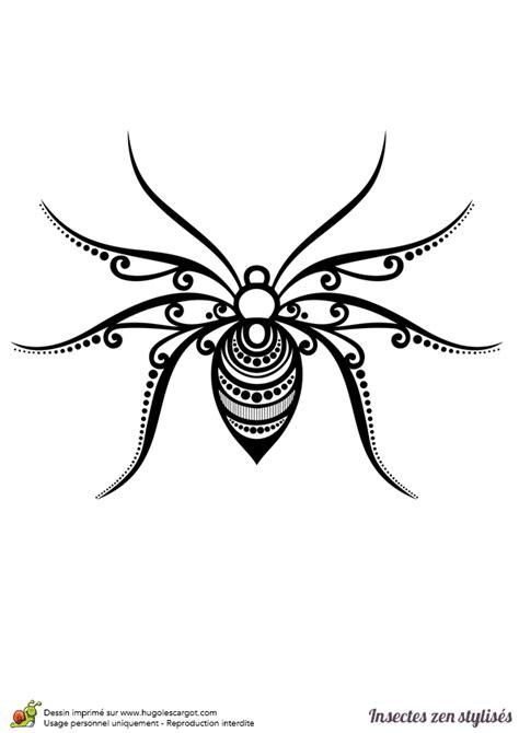 cuisine de cochon dessin à colorier d 39 une araignée stylisée hugolescargot com