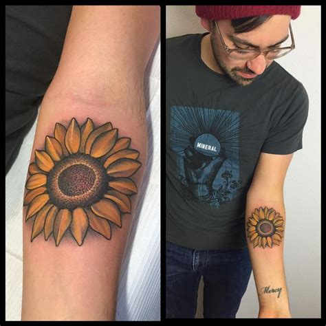 sunflower tattoo images designs