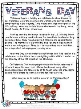 free a one page summary of veterans day and why
