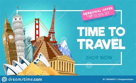 travel promo banner design  travel agency vector