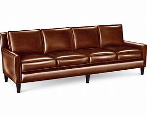 Longchair Couch : furniture brown top grain leather sofa with double ~ Pilothousefishingboats.com Haus und Dekorationen