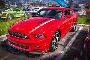 2013 Ford Mustang Gt Cs Painted Photograph by Rich Franco
