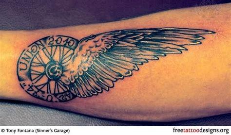 Winged Wheel Harley Davidson Tattoo