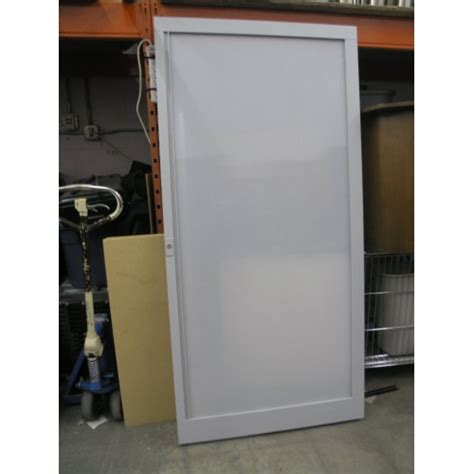 white rolling privacy door with track interior 38 x 78