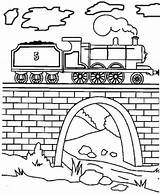 Coloring Tunnel Engine Train Pages James Tank Steam Thomas Drawing Draw Friends Drawings Printable V8 Paint 49kb 400px Mavis Getdrawings sketch template