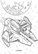 Spaceship Coloring Wars Star Pages Anakin Print Ship Hellokids Printable Clone Children sketch template