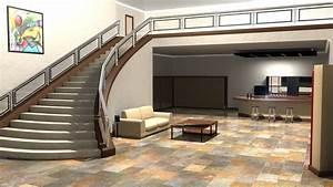 Architecture interior design kitchen living room wallpaper ...