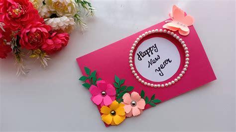 beautiful handmade happy  year  card idea diy