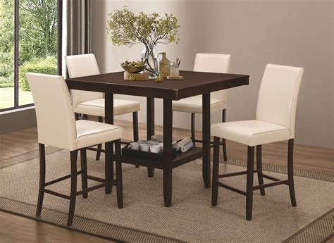 furniture counter height table sets for elegant dining