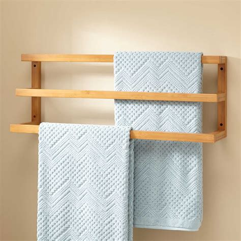 bathroom towel racks aldona bamboo towel rack bathroom