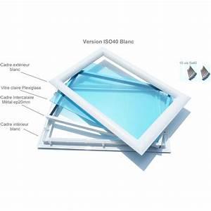 Hublot pvc blanc rectangulaire vitres transparentes 511 x for Porte de garage coulissante jumelé avec achat porte blindée appartement