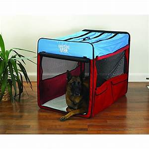 Guardian gear collapsible folding soft portable dog crate for Extra large portable dog kennel