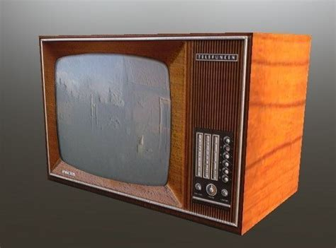Old TV - iProp and Obj files 3D model | CGTrader