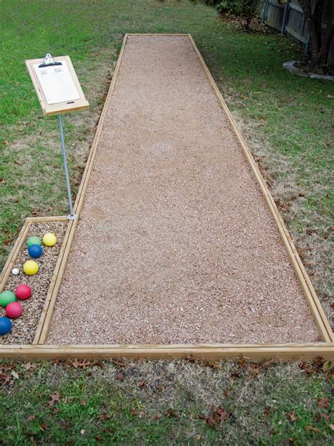 backyard bocce court dimensions how to play bocce hgtv