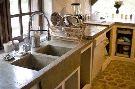cuisine cellulaire plan de travail en beton cuisine béton
