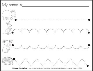 pre handwriting worksheet frog spot  teaching