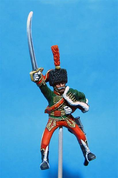 French Napoleonic Hussar Perry 7th Plastic Miniatures