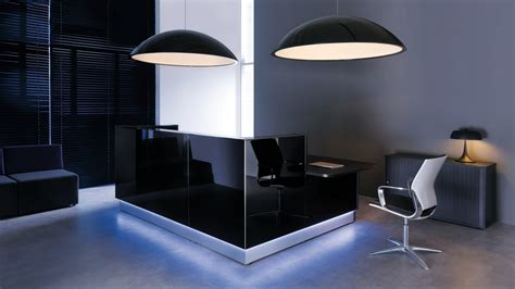 reception desk modern office modern black reception desk design for office with light