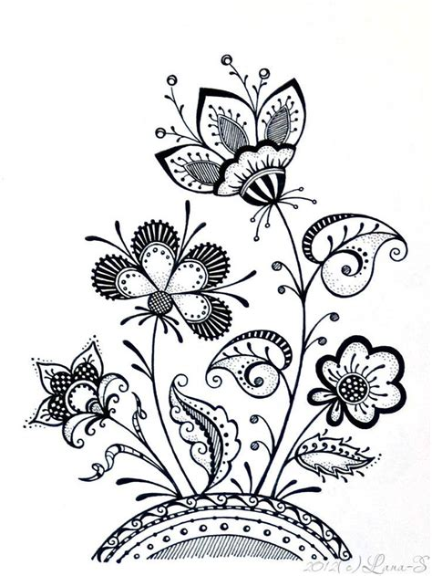 flowers  butterfly color  beautiful doodle art