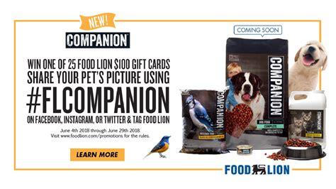 food lion companion brand pet picture promotion abccom