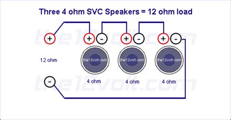 Subwoofer Wiring Diagrams Three Ohm Single Voice Coil