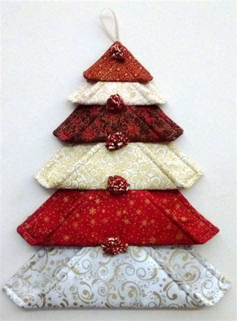 fabric christmas trees ideas  pinterest