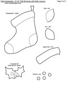 felt ornament stocking template patterns templates pinterest