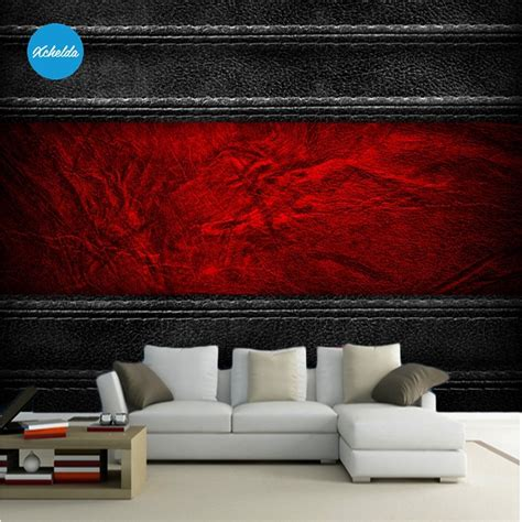 mural  wallpapers custom wall murals painting black red