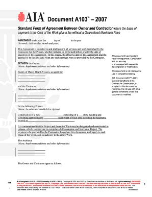 fillable   standard agreement  gc  cost