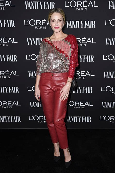 monet mazur fair vanity paris attends hollywood celebrate party oreal loreal angeles los loreal leather
