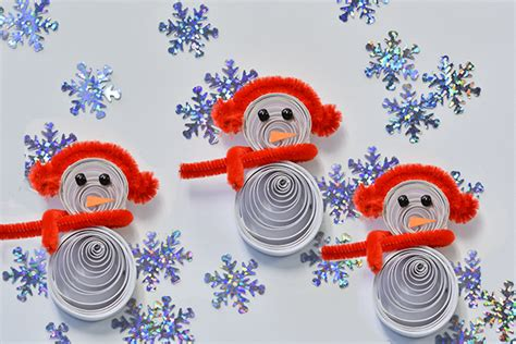 quilled snowman craft fun family crafts