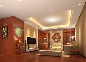 Ceiling and wooden wall design for living room d house