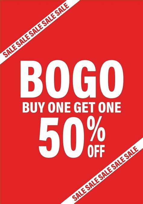 BOGO Sale Poster