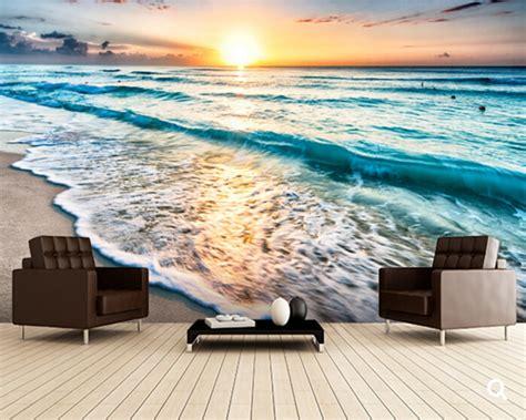 Custom Landscape Wallpaper Beautiful Sunrise Over Beach