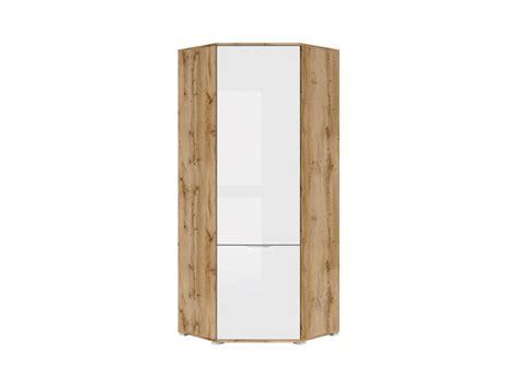 Slimline White Wardrobe by Modern Free Standing Single Corner Wardrobe Unit White