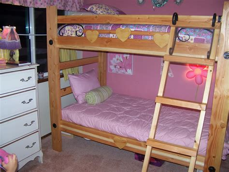 forrest hart a rustic set of twin over twin bunk beds for