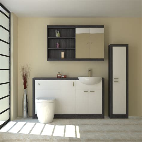 Buy Bathroom Furniture by Hacienda 1500 Fitted Furniture Pack White Buy At