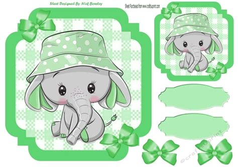 The green card differs from other visas in allowing its holder to stay and work in the usa for an unlimited period of time; Green Check with border 8x8 card front with cute ele - CUP1028999_415 | Craftsuprint