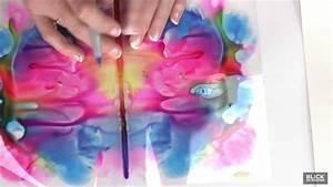 Decalcomania Glue Paint Symmetry Prints Lesson Plan