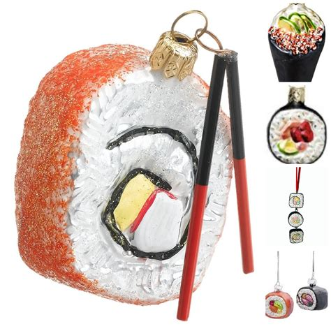 sushi christmas ornaments tree ornaments for food travelers