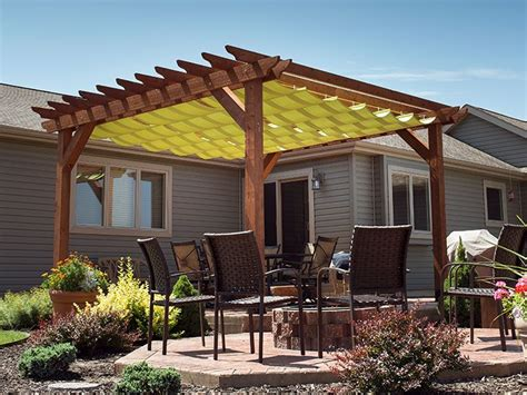 diy slide on wire hung canopy for a pergola i want this