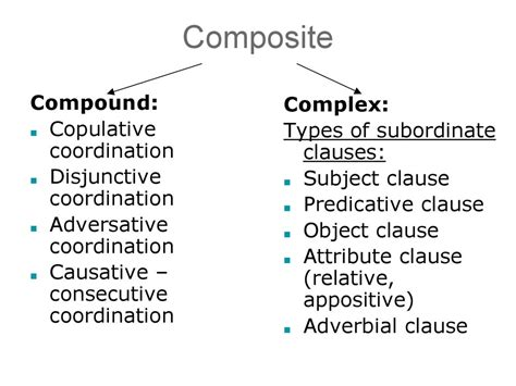 compound  complex sentences   transformational