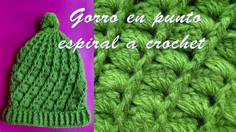 Gorro A Crochet En Punto Espiral Paso A Paso Con