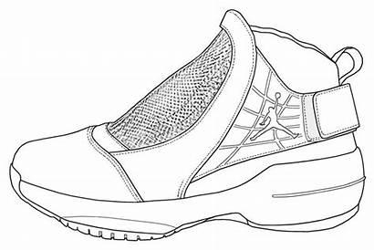 Coloring Pages Air Jordan Jordans Adult Nike