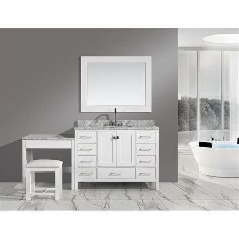 """Browse a large selection of bathroom vanity designs, including single and double vanity options in a wide range of sizes, finishes and styles. Design Element London 48"""" Vanity Set with Make-up Table ..."""