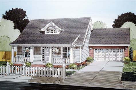 bed bungalow  attached garage wm architectural designs house plans