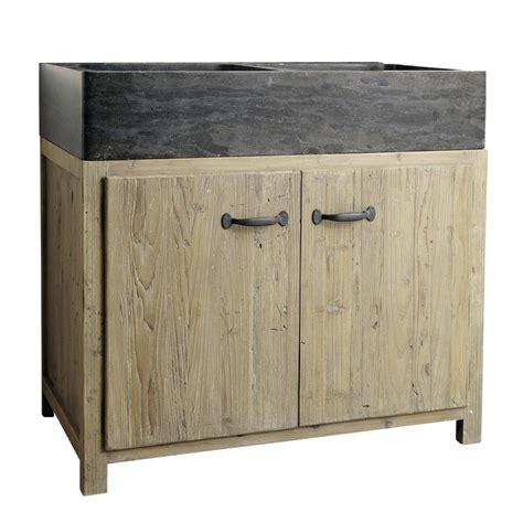 meuble cuisine 90 cm meuble bas de cuisine avec évier en bois recyclé l 90 cm