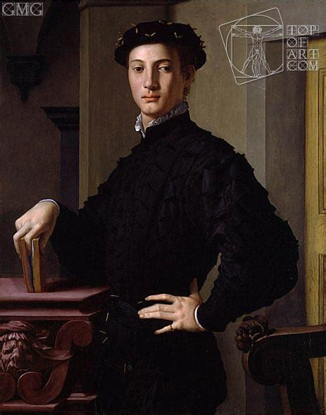 Portrait Of A Young Man Bronzino Painting Reproduction