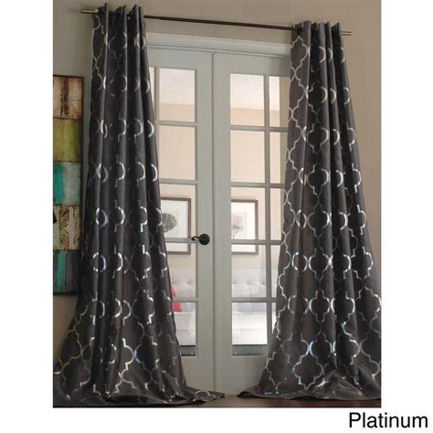trellis pattern curtains casablanca modern metallic taupe and silver trellis